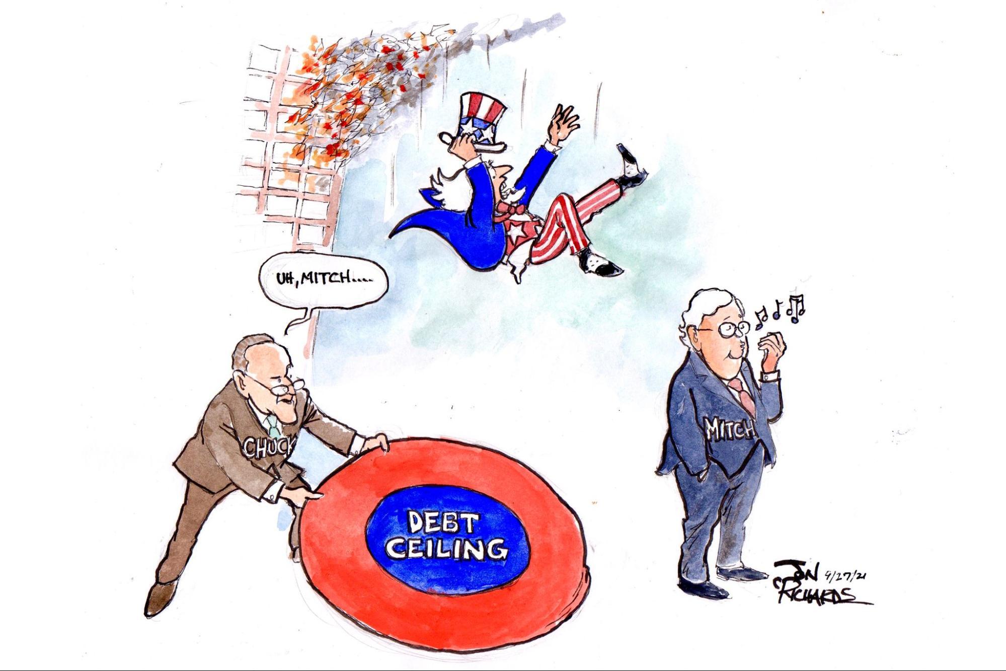 Chuck Schumer, Mitch McConnell, debt ceiling