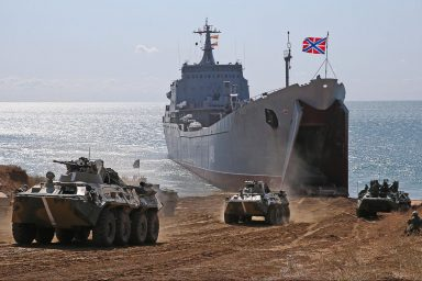Russian Navy, Opuk, amphibious landing