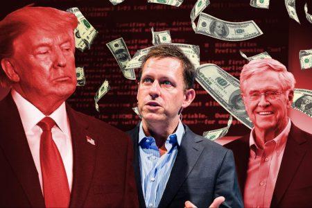 Donald Trump, Peter Thiel, Charles Koch