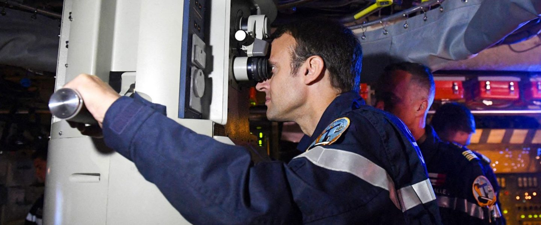 Emmanuel Macron, submarine