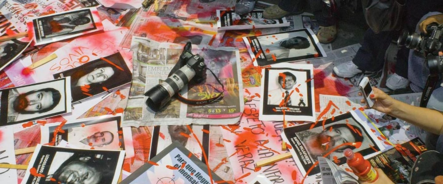 Mexican journalists, protest, violence