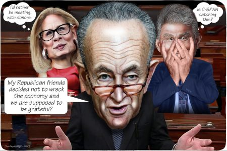 Kyrsten Sinema, Chuck Schumer, Joe Manchin, US Senate