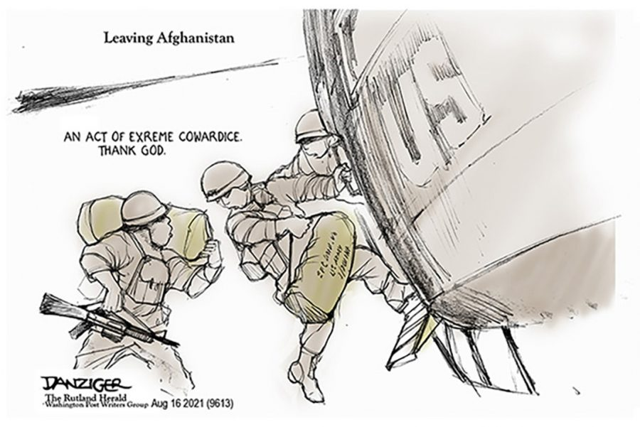 Jeff Danziger, Leaving Afghanistan