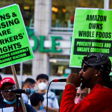 Amazon, New York City, union drive, National Labor Relations Board, vote authorization