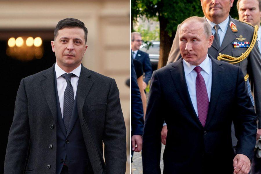 Volodymyr Zelensky, Vladimir Putin