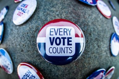 every vote counts, buttons